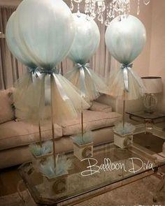 Bricolage Baby Shower, Idee Baby Shower, Shower Bebe, Boy Baby Shower Themes, Baby Shower Balloons, Baby Shower Parties, Baby Boy Shower, Elephant Baby Showers, Diy Baby Shower Centerpieces