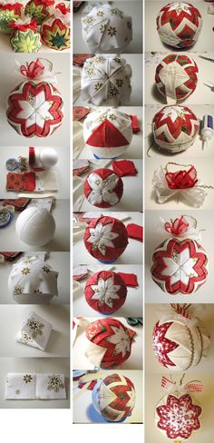 1 million+ Stunning Free Images to Use Anywhere Diy Quilted Christmas Ornaments, Folded Fabric Ornaments, Felt Christmas Decorations, Christmas Sewing, Christmas Baubles, Diy Christmas Ornaments, Handmade Ornaments, Handmade Christmas, Beaded Ornaments