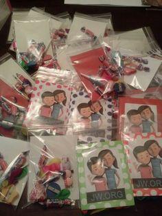 Caleb and Sophia goody gift bags.