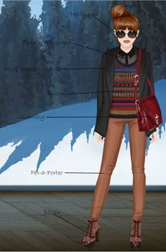 The Stardoll Lookbook: Browns and reds