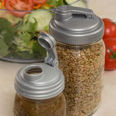 Turn your canning jars into versatile, spill-proof pouring containers! Perfect for wet or dry goods.