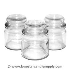 4 oz Mini Apothecary Jars with Glass Dome Lid
