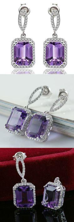 Square Drop Earrings For Women