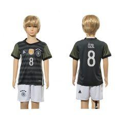 Tyskland Trøje Børn 2016 Mesut #Ozil 8 Udebanetrøje Kort ærmer,199,62KR,shirtshopservice@gmail.com