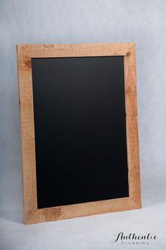 Rustic wooden framed black board