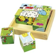 Buy a Wooden Farm Animal Cube Puzzle from Mulberry Bush, the UK online toy shop for Traditional and Wooden Children's Toys, Gifts and Games