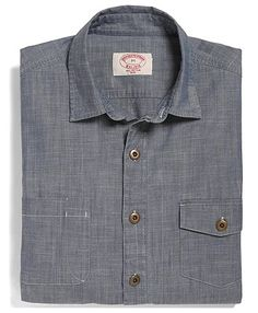 Slim Fit Chambray Sport Shirt | Brooks Brothers