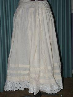 Historical Civil War Reenactment Costume Petticoat Most Colors Cotton Pioneer. www.bonanza.com