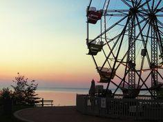 Ferris Wheel at sunset. Firehouse Winery at Geneva On The Lake, Ohio #LakeErie