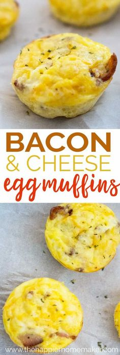 Bacon and Cheese Egg Muffins are a fast, easy breakfast recipe perfect for meals on the go and freezer friendly too! Make a batch and always have a high protein snack ready to go! #recipes #protein #easyrecipes
