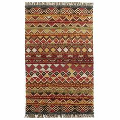 Tribal Fringe Dhurrie Rug Pier one