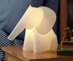 The Land of Nod: Kids' Nightlights: Elephant Lamp Nightlight in Nightlights. Grown-ups need a little light too! Elephant Nursery Lamp, Jungle Nursery, Jungle Theme, Jungle Baby Room, Giraffe Lamp, Light Luz, Soft Light, Pink Light, Luminaire Original
