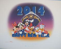 Ducky Williams LE 4900 Mickey Disney Cruise Line New Years 2014 Lithograph #DisneyCruiseLine