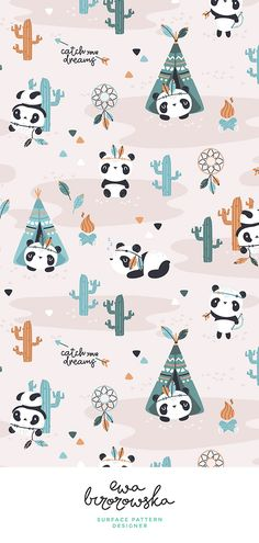 Baby Ilustration Art Children Nursery Prints Ideas For 2019 Panda Wallpapers, Cute Cartoon Wallpapers, Cute Wallpaper Backgrounds, Wallpaper Iphone Cute, Moving Wallpapers, Wall Wallpaper, Panda Illustration, Indian Illustration, Pattern Illustration