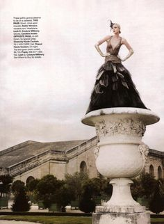 "Model: Jessica Stam | Photographer: Karl Lagerfeld - ""High Fashion"" for Haper's Bazaar US, November 2007"