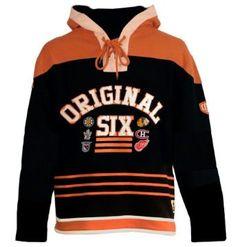 Amazon.com: Old Time Hockey Original Six Lace Hooded Sweatshirt: Sports & Outdoors