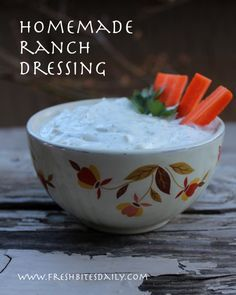 Friends thought Hidden Valley had stolen this ranch dressing from us but it's a classic that predates the bottle...