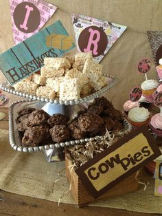 rice krispie hay stacks chocolate no bakes cow patties