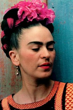 """vintagegal: """" """"I paint myself because I am so often alone and because I am the subject I know best."""" Frida Kahlo by Nickolas Muray, 1939 (via) """""""