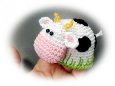 Eierwärmer häkeln / Kuh als Eierwärmer häkeln                                                                                                                                                     Mehr