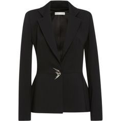 Elizabeth Kennedy Tailored Blazer with Novelty Button ❤ liked on Polyvore (see more tailored blazers)