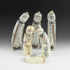 Troy Sice Zuni Pueblo Antler Nativity