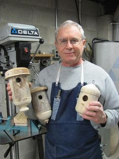 Some finished bird houses - Holz - Bird Supplies Wood Turning Lathe, Wood Turning Projects, Wood Lathe, Lathe Projects, Wood Projects, Woodworking Projects, Woodworking Patterns, Outdoor Projects, Bird House Plans Free