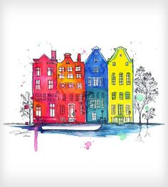 Iamsterdam Watercolor print by Jessica Durrant on Scoutmob Shoppe