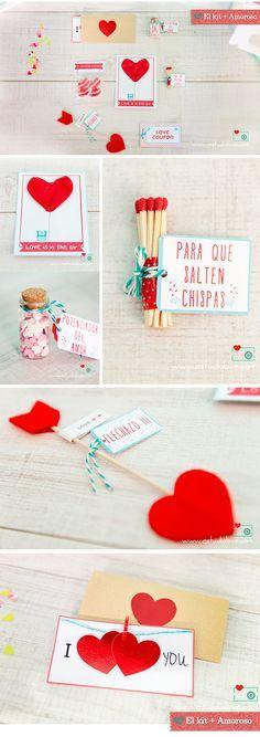 Regalo San Valentín, regalo original boda, kit luna de miel, Gift the couples a creative box o — it's a neat wedding, birthday, or anniversary gift! www.estudiolove.com