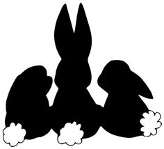 Free SVG File - Three Easter Bunnies Backs