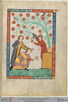 """Der um 1300 dichtende """"junge Meißner"""" ist nicht zu verwechseln mit Heinrich von Meißen, genannt """"Frauenlob"""" (Miniatur 129), oder dem """"alten Meißner"""". Nach seiner Sprache stammte er aus Mitteldeutschland."""