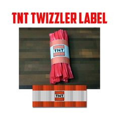 TNT Mine Themed Licorice Wrap - TNT - DIY - Instant Download and Printable - New Design by wilsongraphicsprintables, $1.25 USD