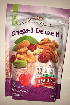 Nature's Garden Omega 3 Deluxe Nut Mix 26 ounce Bag 846548062120 | eBay