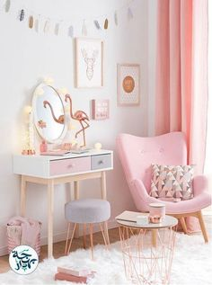 Get inspired to create an unique bedroom for kids with these decorations and furnishings inspired by pink textures and shades.