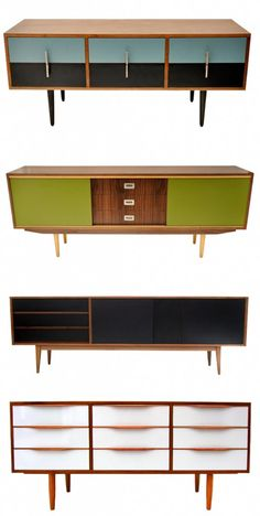 sideboards by Retro Modern. @designerwallace
