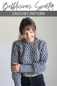 Ravelry: Bobblicious Sweater pattern by Kay Krochets Crochet Cardigan, Baby Blanket Crochet, Crochet Baby, Knit Crochet, Crochet Sweaters, Diy Crochet Tank Top, Crochet Jumpers, Crochet Pullover Pattern, Crochet Shrugs
