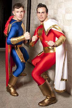 "Captain Marvel (Billy Batson) & Captain Marvel Jr. (or ""CM3"") (Freddy Freeman) #cosplay | Flickr: The Super Heroes Pool"