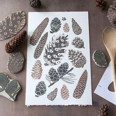 Линогравюра и штампы/Lino & Stamps printed