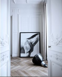 his room is so beautiful with pale wood laid herringbone pattern | Second Shout Out
