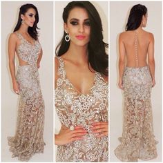 Gorgeous Heavy Beaded Sexy See Through Long Prom Dresses, PM0172