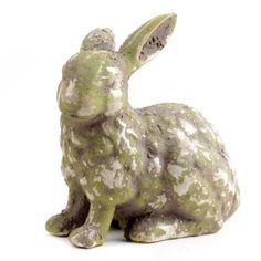 Aged Ceramic Rabbit Statue   Kirkland's