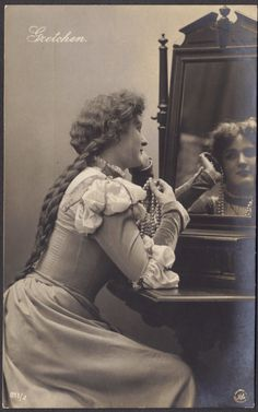 Gretchen at the Mirror from Faust circa 1905 by redpoulaine
