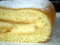 Brazo de gitano relleno de crema de manzana, Receta por Aisha Kandisha - Petitchef