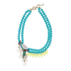 J.Cluster Anthropology BEADED PARROT NECKLACE by Partiesqueen, $45.49