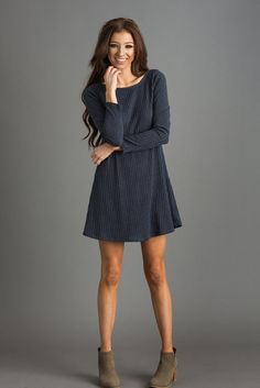 Who doesn't love a sweater dress? These are soooo easy to style and throw on when you're on the go...