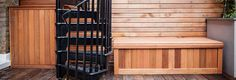 Bespoke Slatted Fence Panels, Contemporary Fencing, Wooden Benches, Garden Levels, Garden Seating, Bespoke, Building, Outdoor Decor, Modern