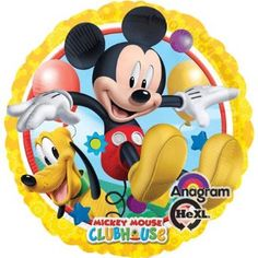 """Amazon.com: Mickey Mouse Clubhouse with Pluto 17"""" Mylar Foil Balloon- Birthday Party: Toys & Games"""