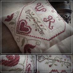 Love Heart / motif de point de croix par TheSubRosaDesign sur Etsy