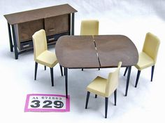 P329 Tri-ang Spot-On dining room set table chairs + sideboard | eBay