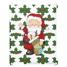Christmas Santa iPad 2/3/4 Savvy Glossy case Case For The iPad 2 3 4